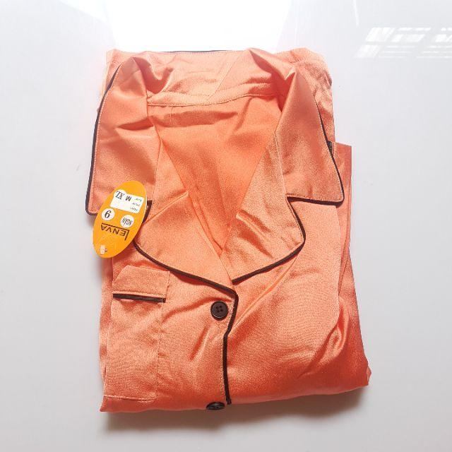 Mặc gì đẹp: Ngủ ngon với Pijama Dài Tay Ngắn Lụa Trơn Cao Cấp size 45-65kg