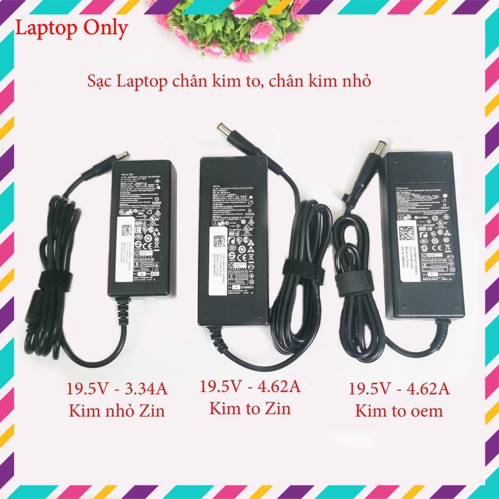 Sạc Laptop Dell chân kim to/chân kim nhỏ Chính hãng 19.5v-4.62a-90w/19.5V-3.34A-65W adapter dell
