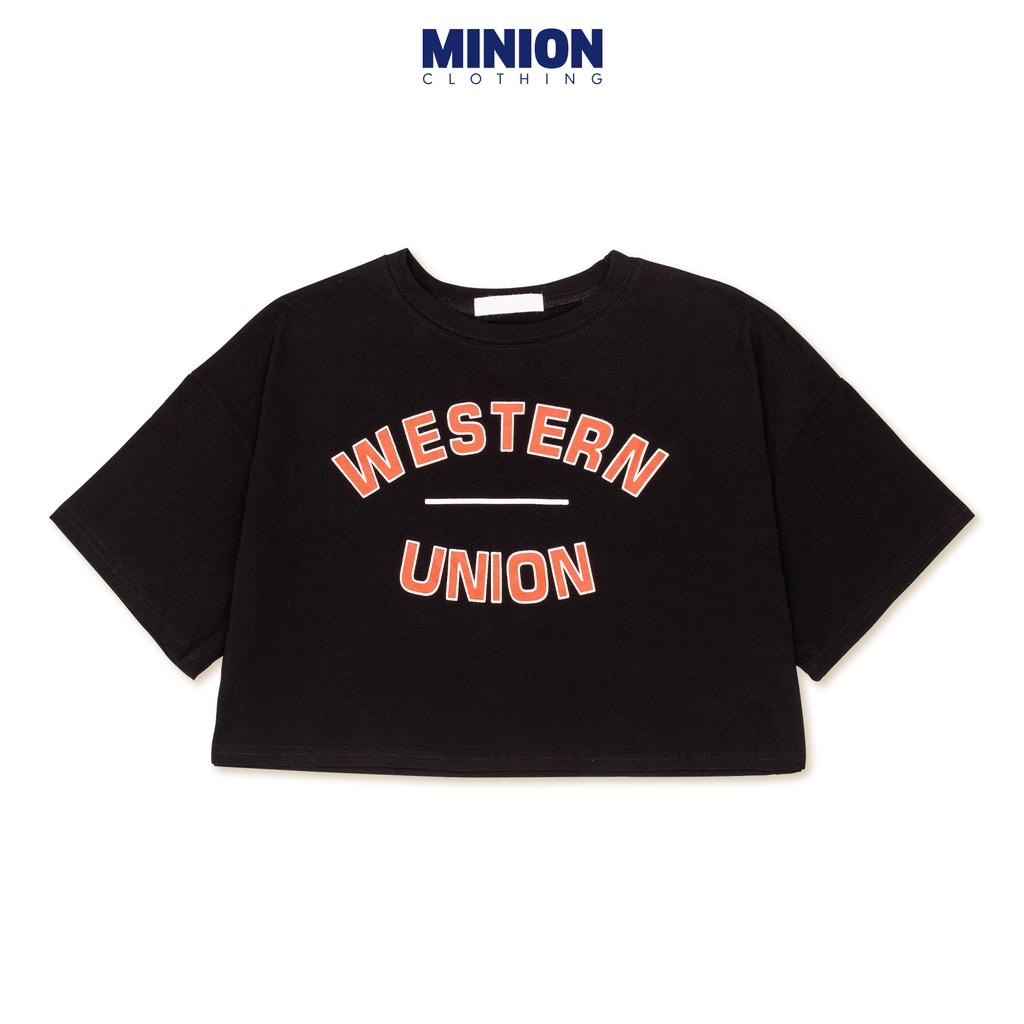 Áo croptop Minion Clothing form rộng, phong cách Ulzzang Streetwear A2708