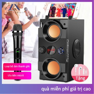 Loa karaoke Bluetooth [1 micro không dây] di động loa âm lượng cực đại 100W, pin 2500 mA, phát liên tục trong 8 giờ