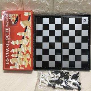 Bộ cờ vua cao cấp nâm châm loại bé kích thước 19 x19cm .