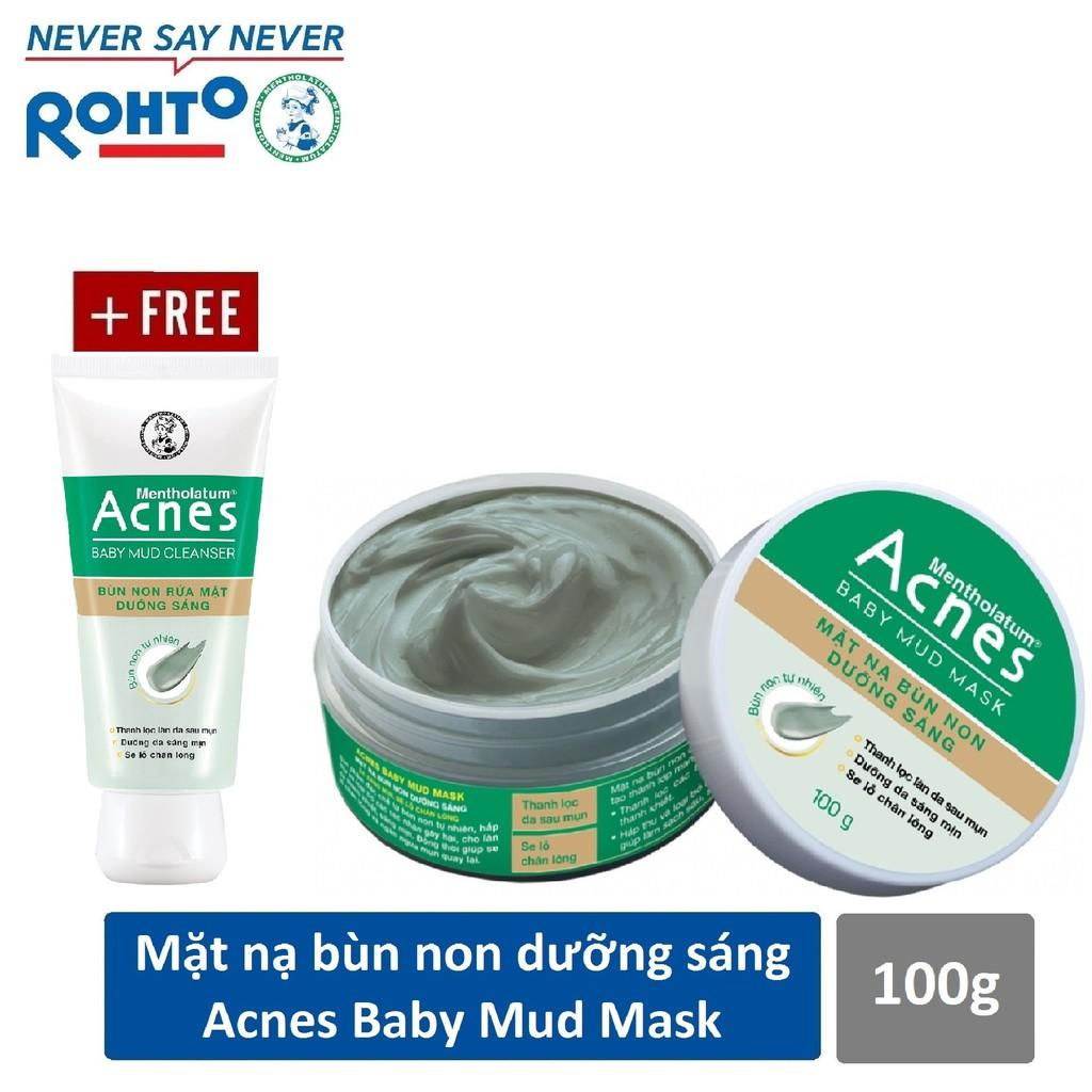 Mặt nạ bùn non dưỡng sáng da Acnes Baby Mud Mask 100g + Tặng Kem rửa mặt Acnes Baby Mud 25g - 14277530 , 2230498807 , 322_2230498807 , 104000 , Mat-na-bun-non-duong-sang-da-Acnes-Baby-Mud-Mask-100g-Tang-Kem-rua-mat-Acnes-Baby-Mud-25g-322_2230498807 , shopee.vn , Mặt nạ bùn non dưỡng sáng da Acnes Baby Mud Mask 100g + Tặng Kem rửa mặt Acnes Ba