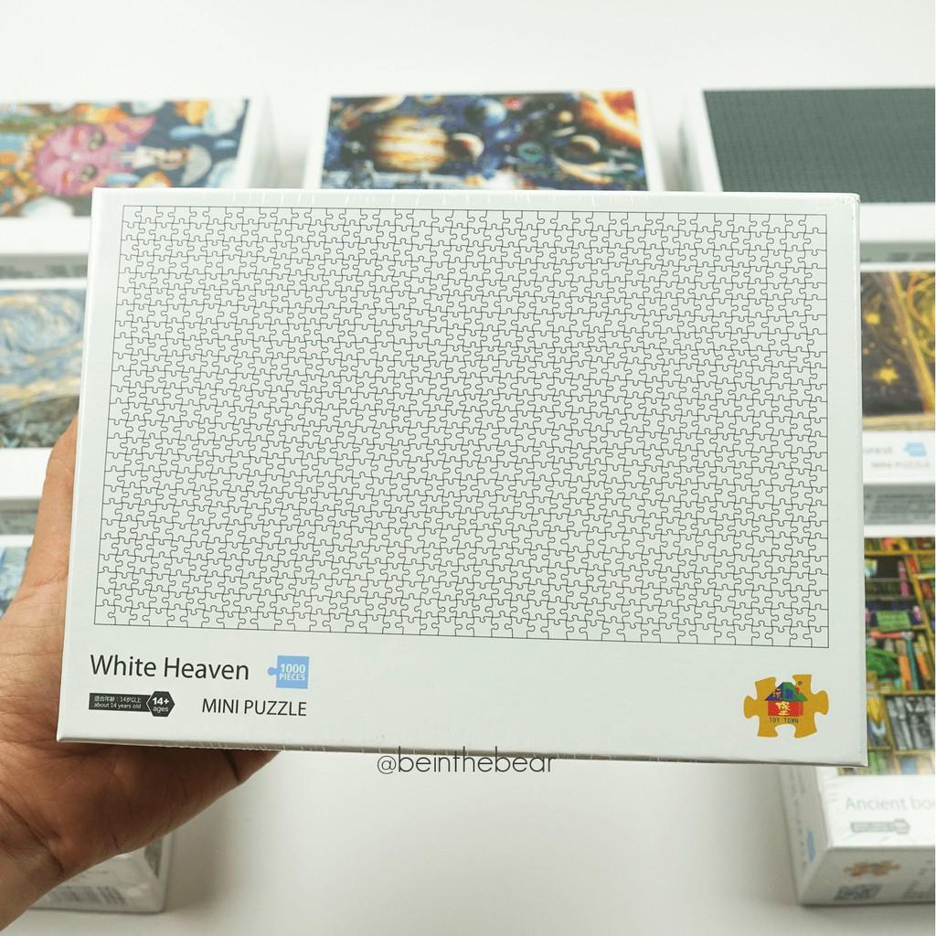 [Chính hãng Toy Town] Tranh ghép hình jigsaw thông minh phát triển trí tuệ 1000 miếng 42x30cm – Mẫu trơn