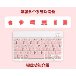 Hình ảnh GOOJODOQ Bộ bàn phím + chuột máy tính không dây bluetooth nhiều màu sắc nhỏ gọn cho iPhone/ iPad (có bán lẻ bàn phím)-6