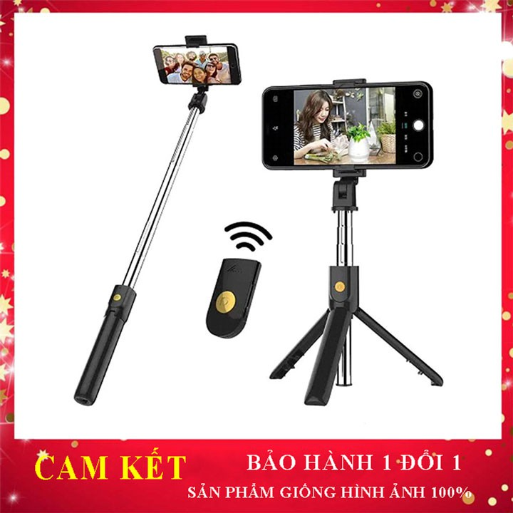 Gậy tư sướng chụp ảnh K07 điều khiển từ xa remote bluetooth - chụp selfie - Gây 3 chân giữ điện thoại đa năng