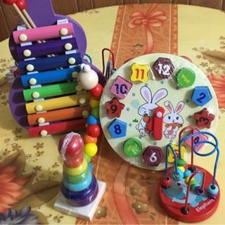 Combo 2 bộ đồ chơi gỗ cho bé
