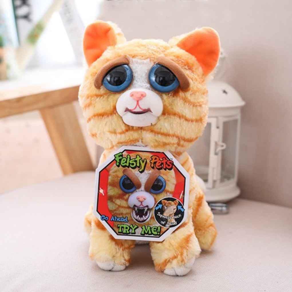 Feisty Pets Stuffed Plush Toys Funny Bear Monkey Rabbit Change Face Animal Toy