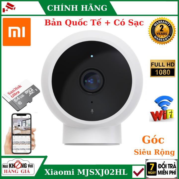 Camera wifi , Camera Xiaomi chính hãng mijia Mjsxj02hl 2.0mpx 1080p 2020, góc rộng, chống nước, Hàng Chính Hãng