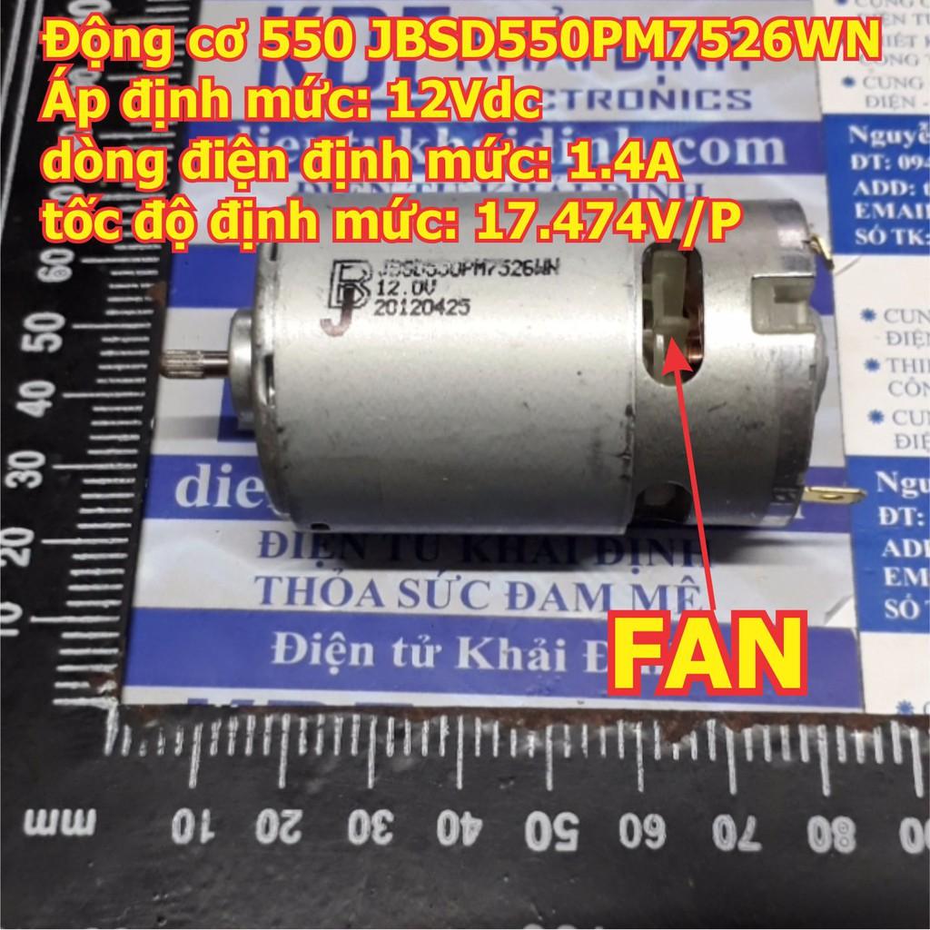 ĐỘNG CƠ DC 550 JB JBSD550PM7526WN 12Vdc 1.5A 17474V/P trục 3.2mm, CHẠY SIÊU NHANH kde4974 - 13901198 , 1968007759 , 322_1968007759 , 89000 , DONG-CO-DC-550-JB-JBSD550PM7526WN-12Vdc-1.5A-17474V-P-truc-3.2mm-CHAY-SIEU-NHANH-kde4974-322_1968007759 , shopee.vn , ĐỘNG CƠ DC 550 JB JBSD550PM7526WN 12Vdc 1.5A 17474V/P trục 3.2mm, CHẠY SIÊU NHANH k