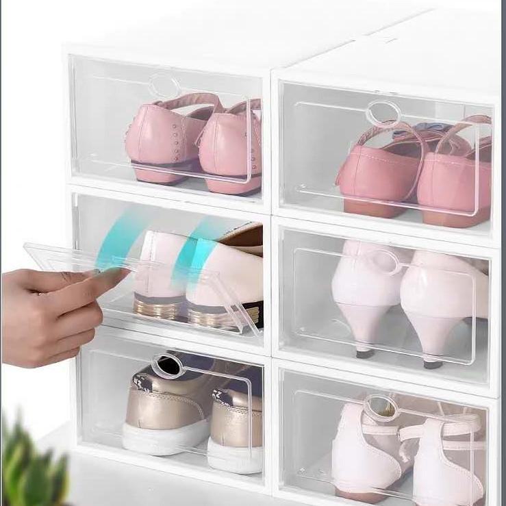 (Size Nữ)Hộp Đựng Giày Nắp Nhựa Cứng Trong Suốt - Giá của 1 hộp
