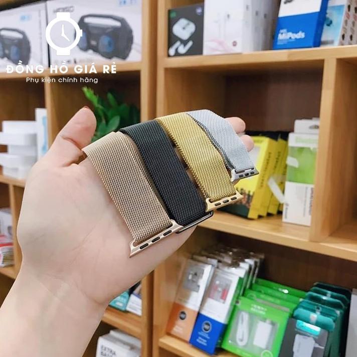 Dây đeo Apple Watch Milanese thép không gỉ 5 MÀU size 38mm-40mm-42mm-44mm siêu đẹp
