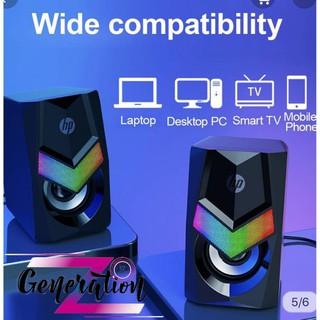 [Mã ELFLASH5 giảm 20K đơn 50K] Loa vi tính HP DHE-6000 (2 cái/Bộ) Đen
