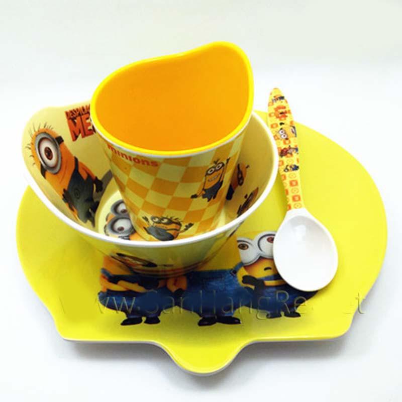 Bộ đồ dùng ăn hình Minions cho bé hàng xuất Nhật 02