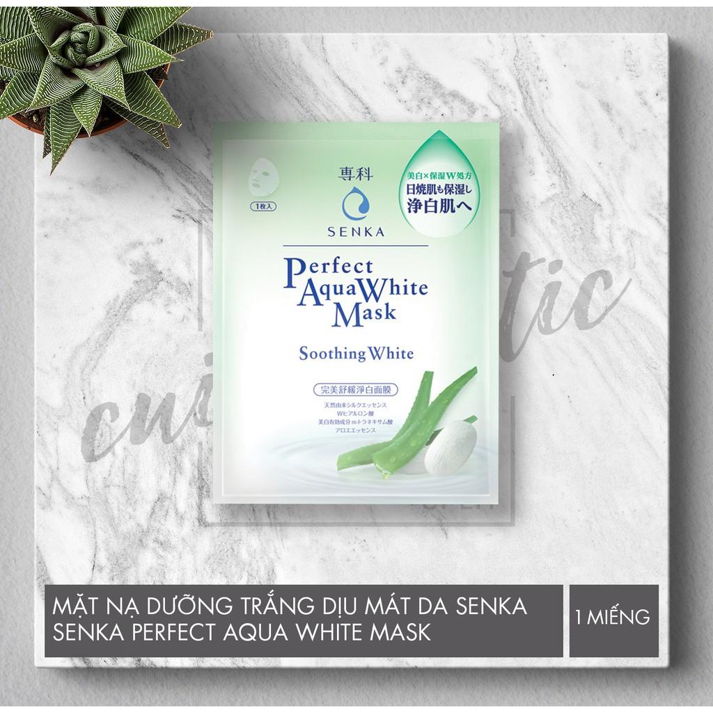 (1 Miếng / 1 Hộp 7 Miếng ) Mặt Nạ Dưỡng Trắng Dịu Mát Da Senka Perfect Aqua White Mask – Soothing Wh - 2620096 , 1246824747 , 322_1246824747 , 40000 , 1-Mieng--1-Hop-7-Mieng-Mat-Na-Duong-Trang-Diu-Mat-Da-Senka-Perfect-Aqua-White-Mask-Soothing-Wh-322_1246824747 , shopee.vn , (1 Miếng / 1 Hộp 7 Miếng ) Mặt Nạ Dưỡng Trắng Dịu Mát Da Senka Perfect Aqua Wh