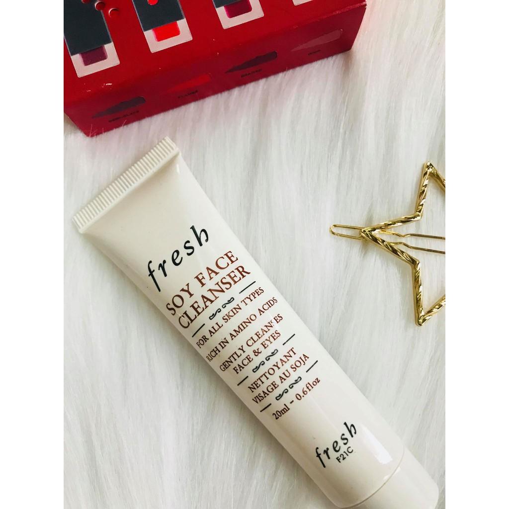 (20ml) Sữa rửa mặt Fresh Soy Face Cleanser
