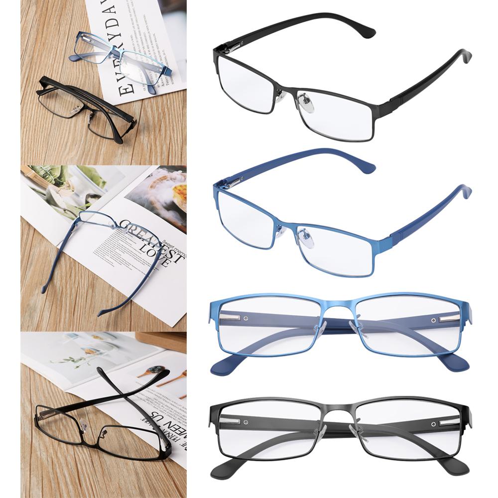 ❀SIMPLE❀ Men Eyeglasses Magnifying Vision Care Business Reading Glasses Flexible Portable Metal Titanium Alloy New Fashion Ultra Light Resin Eye...
