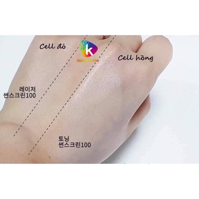(Đủ Bill) Kem chống nắng Cell Fusion C Laser / Clear / Toning Suncreen Đỏ / Xanh / Hồng