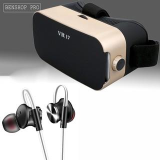 Bộ combo kính thực tế ảo cho smartphone VR i7 & tai nghe Fonge W3 thumbnail