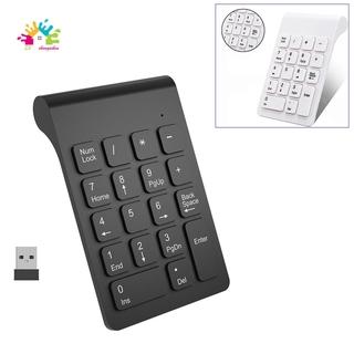 【Best Sales】Wireless 2.4GHz 18 Keys Number Pad Numeric Keypad Keyboard for Laptop PC & Mac white