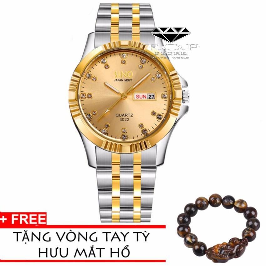 Đồng hồ nam Sino Japan Movt SI3022 Black luxury- Công nghệ mạ chân không