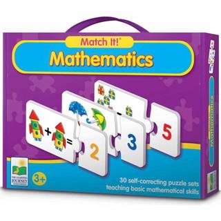 Thẻ học thông minh Match it Mathematic – Bộ thẻ ghép học toán Hộp tím – bé học toán