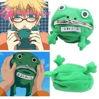 WB✿Portable Cartoon Frog Mini Coin Purse Fleece Key Holder Kids Wallet Green