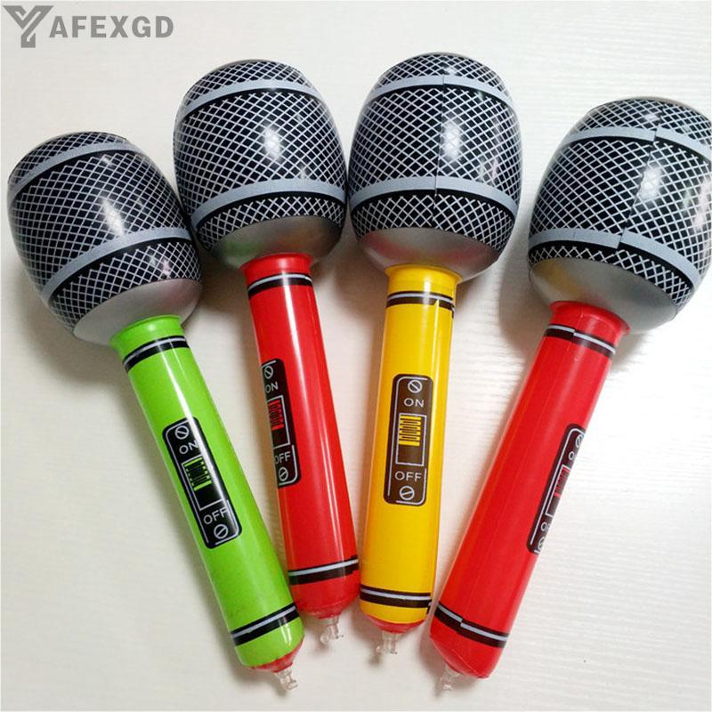 Durable Karaoke Xmas Gift Popular Funny Swim Poor 35cm/50cm Air Microphone Kids Children Blow Up Party Fancy Props Toy