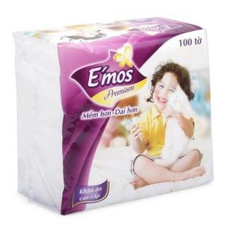 KHĂN GIẤY VUÔNG E-MOS BỊCH 100 TỜ loại bự