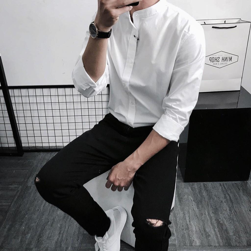 Áo Sơ Mi Nam dài tay- áo sơ mi nam đẹp, phong cách- áo sơ mi trắng
