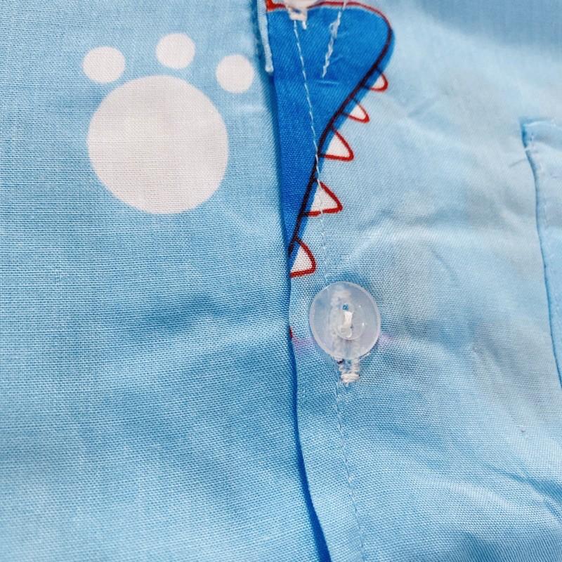 (SIZE 10) Bộ tole lanh (tôn), lanh lụa mặc nhà bé trai tay ngắn quần đùi, kiểu PIJAMA 22-25 kg, bộ hè cho bé, mát mẻ.