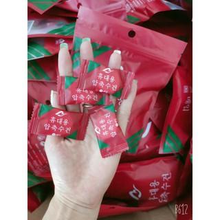 Túi 20 Khăn nén rửa mặt hình viên kẹo cao cấp
