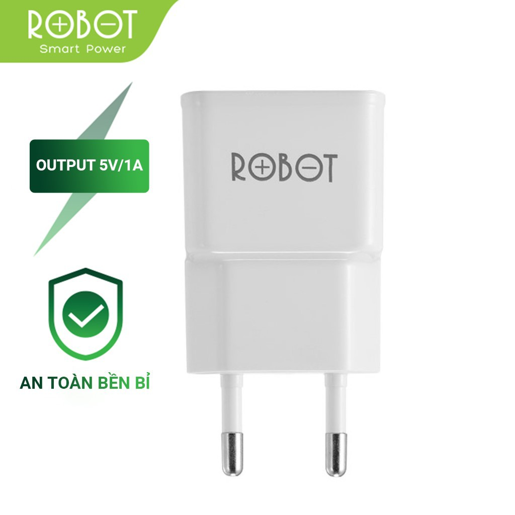 Củ Sạc ROBOT RT-K4 Sạc Tiêu Chuẩn Tương Thích Với Các Dòng Android/IOS - BẢO HÀNH 12 THÁNG 1 ĐỔI 1