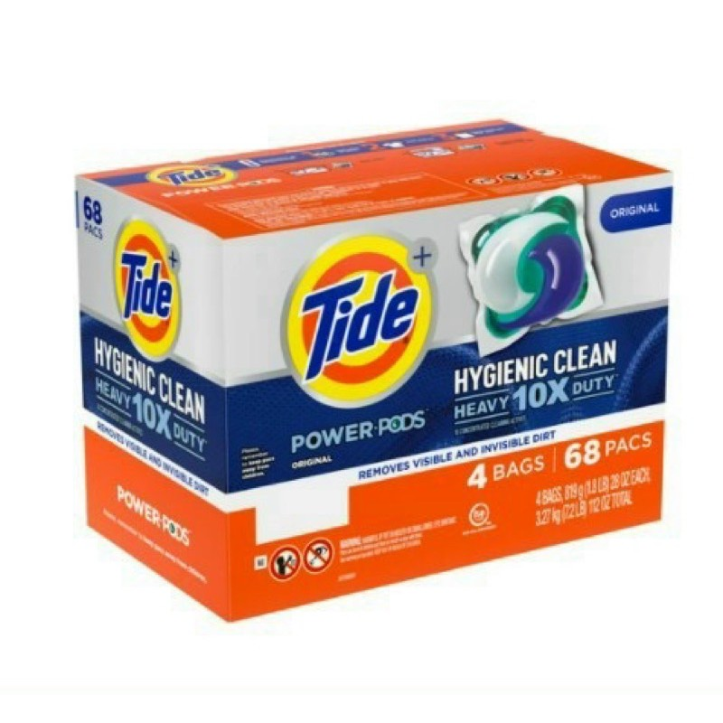 [Mã 267FMCGSALE giảm 8% đơn 500K] Viên giặt tide pods mỹ mẫu mới 1 thùng 68 viên