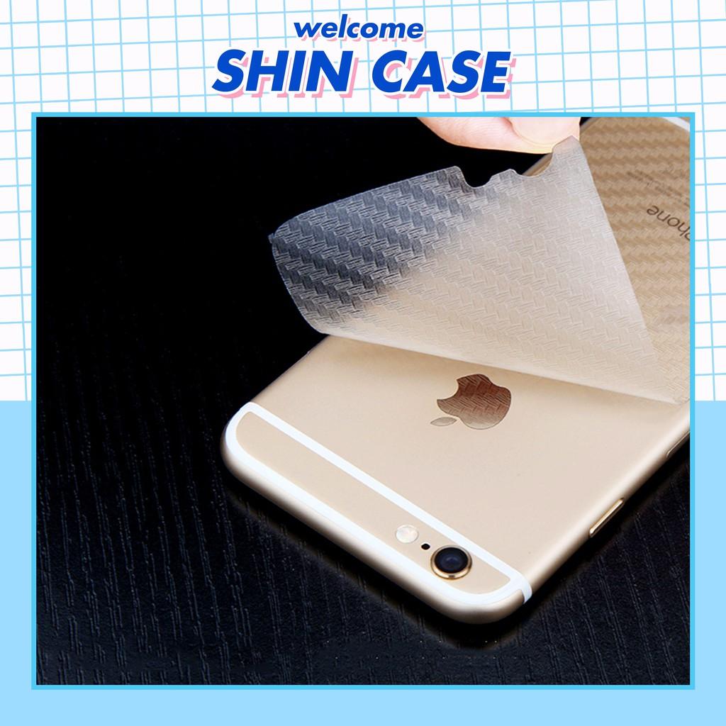 Dán mặt lưng điện thoại Carbon chống vân tay