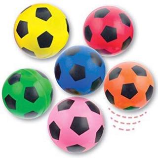 Combo 10 bóng cao su nhiều màu hình quả bóng cho bé