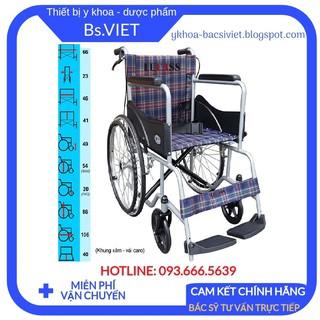 [Cao Cấp] Xe lăn Tiêu chuẩn Lucass X75 (Có thắng tay)-Giúp cho người già, người khuyết tật, bệnh nhân di chuyển dễ dàng thumbnail