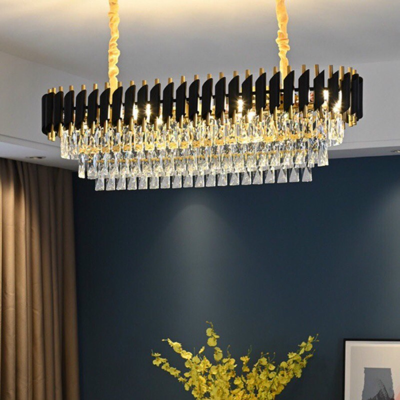 Bộ đèn mâm pha lê D600 thiết kế theo phong cách hiện đại