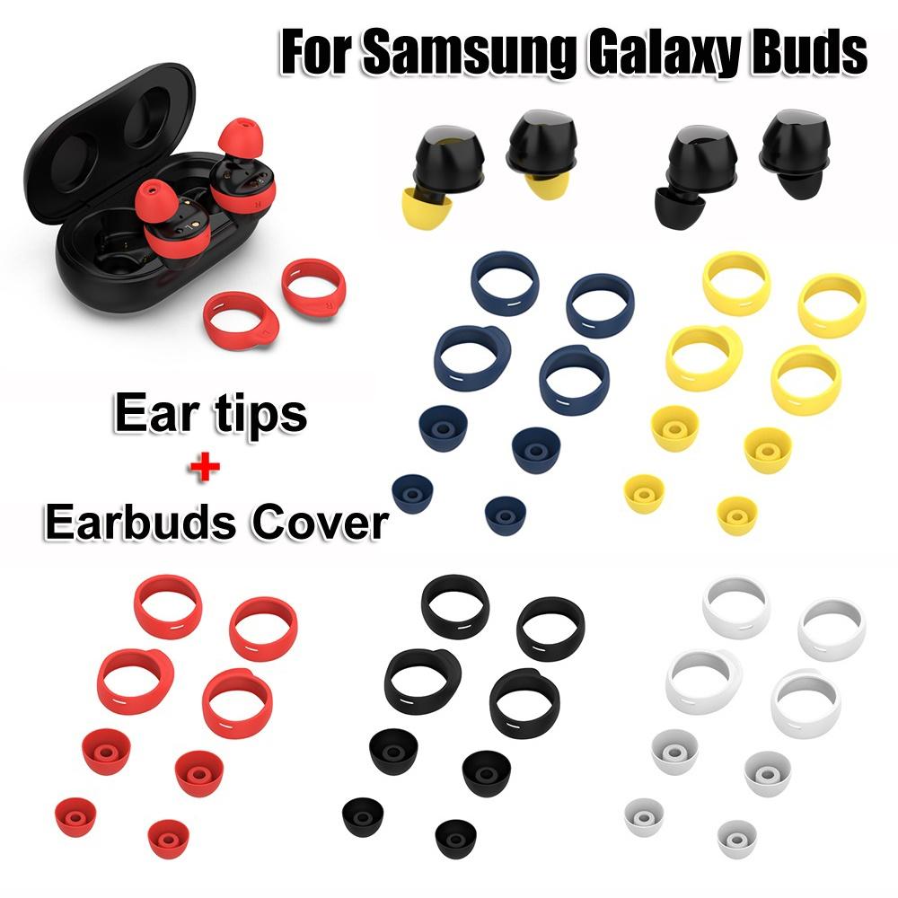 Bộ Nút Bọc Đầu Tai Nghe Bằng Silicon Chống Trượt Cho Samsung Galaxy Buds