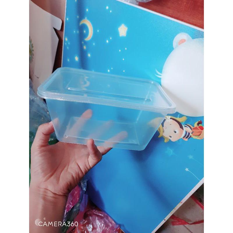 10 hộp nhựa đựng thực phẩm hình chòn và chữ nhật