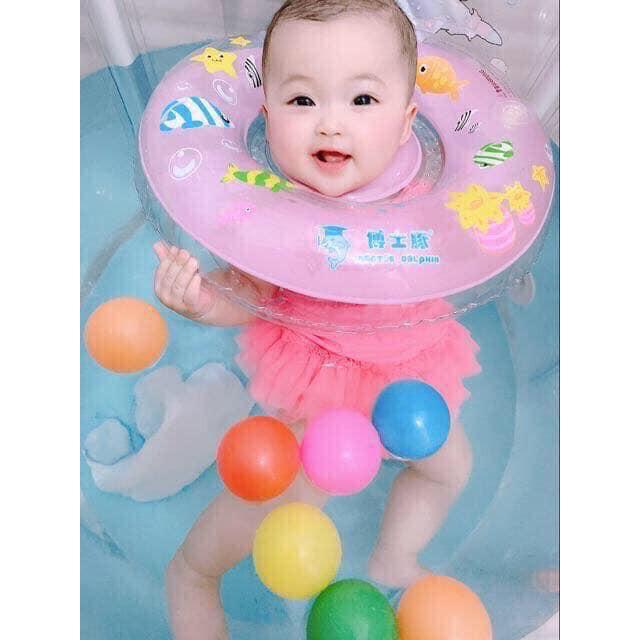 Bể phao bơi thành tròn cao cho bé 1-5 tuổi