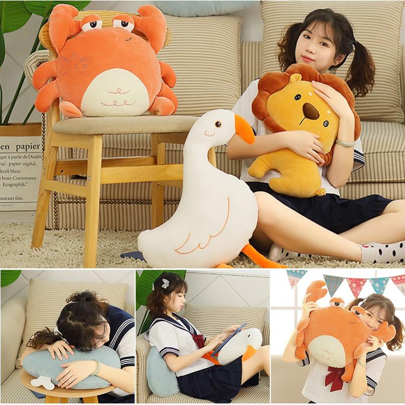 ZF Pillow Cute Plush Animal Stuffed Animal Soft Lumbar Back Cushion Plush Toy for Kid Car Home Decor @VN