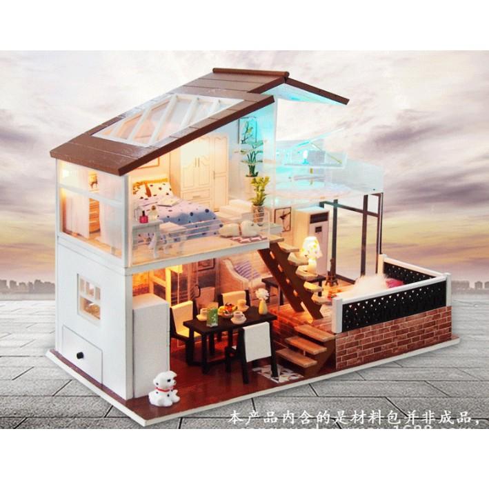 Mô hình nhà búp bê gỗ DIY - One Meter Sun - ngôi biệt thự ấm áp