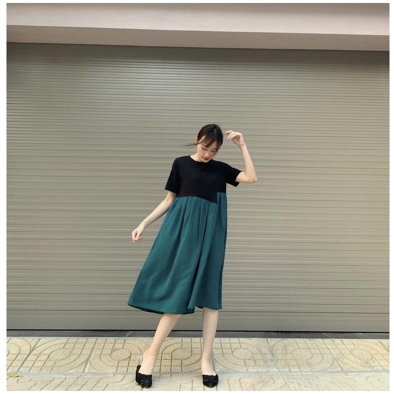 Mặc gì đẹp: Dễ chịu với Váy bầu dáng suông rộng (45-70kg) chất đẹp