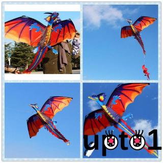 ✦ZWQFamily Outdoor Sports Toy Children Kids NEW 3D Chinese Dragon Stereo Kite Wind Spinner Single Line With Tail