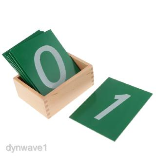 Montessori Math Sandpaper Number With Box Early Education Preschool Training