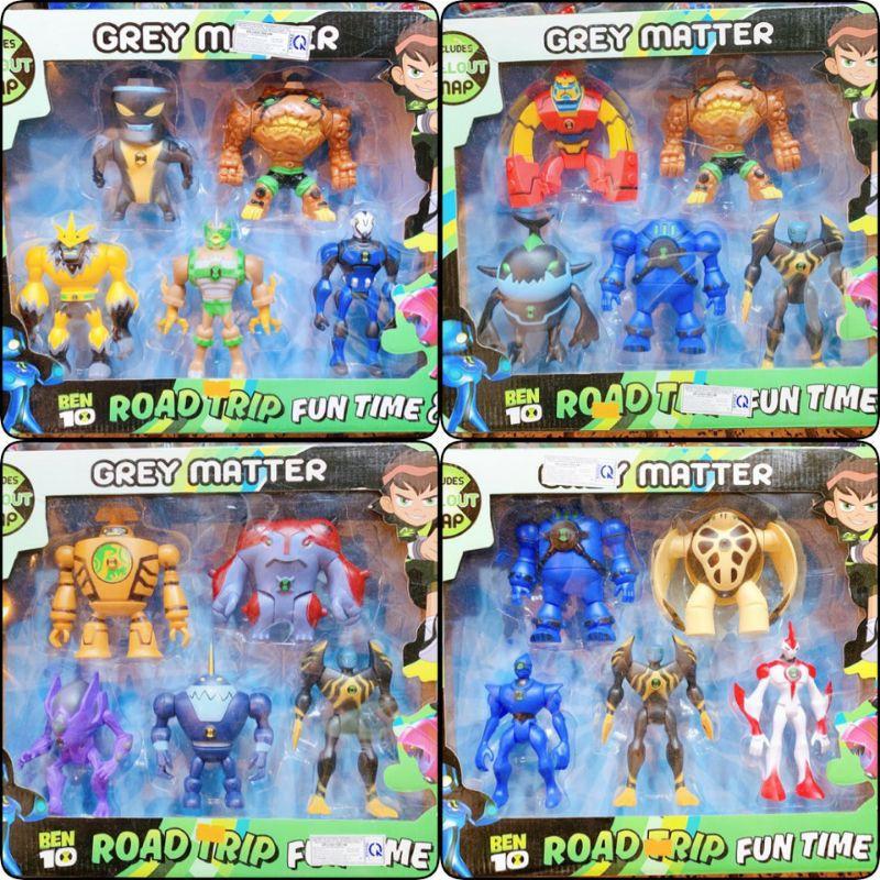 Hộp 5 nhân vật Ben 10 đồ chơi Ben 10