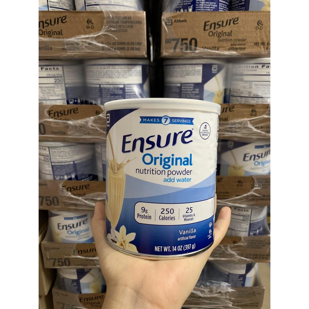 MẪU MỚI DATE 2022 Lốc 6 lon Sữa Ensure ORIGINAL Mỹ 397g