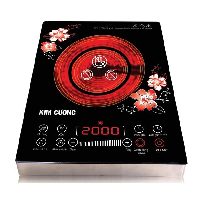 Bếp hồng ngoại thân inox Kim Cương YT-20D(BHNLUOT)