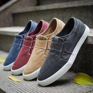 [GIÁ HỦY DIỆT] Giày lười vải jean bò giày nam chuẩn style Hàn (hàng nhập khẩu chất lượng cao) 2 màu xanh đen