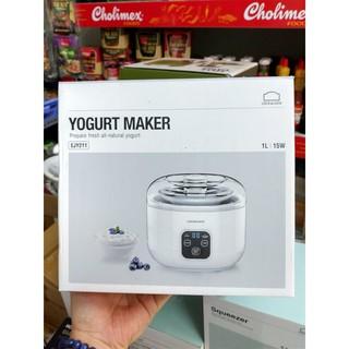 Máy làm sữa chua Lock&Lock EJY211, cốc bằng thép không gỉ, dung tích 1L- Hàng chính hãng bảo hành 12 tháng